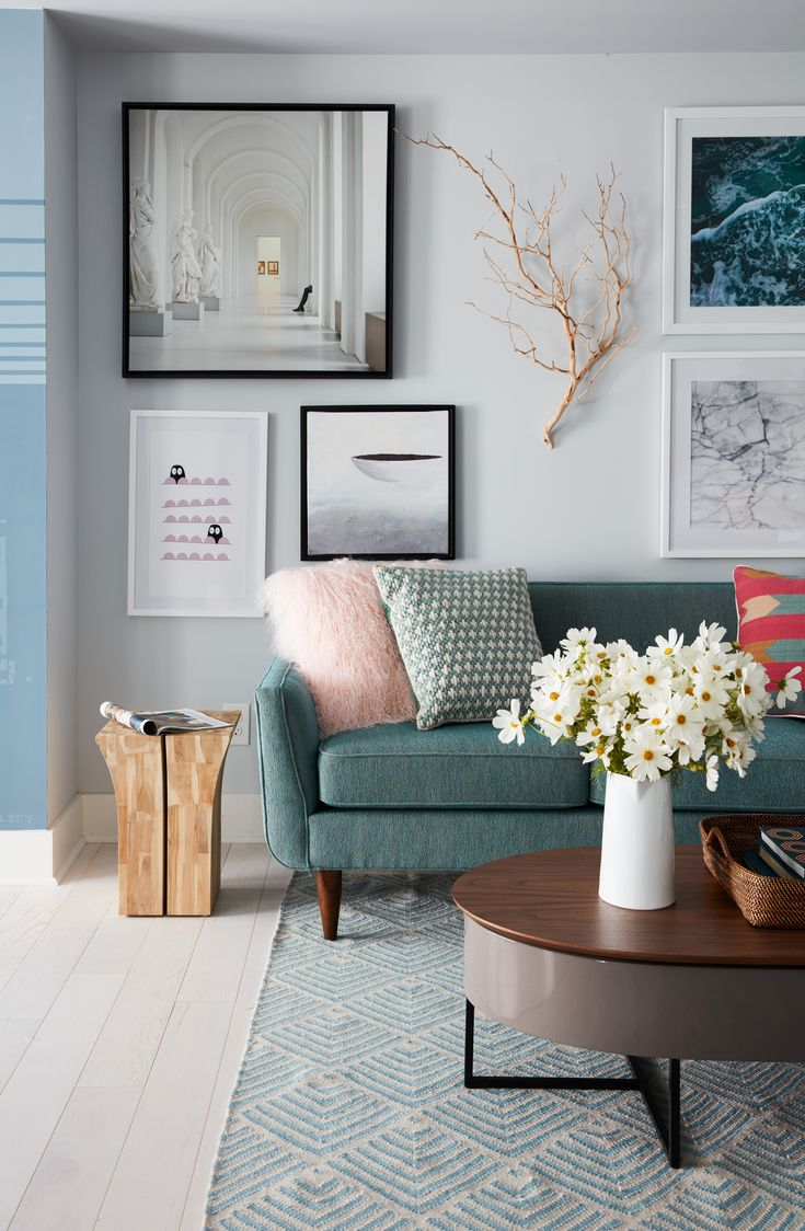 Bring Room-to-Room Harmony to your home with Olympus White (HGSW1447) from the Quiet Comfort Color Collection, as seen in the gorgeous den of the HGTV® Dream Home 2018. Eclectic artwork and cozy throw pillows make this den both warm and inviting. #sponsored
