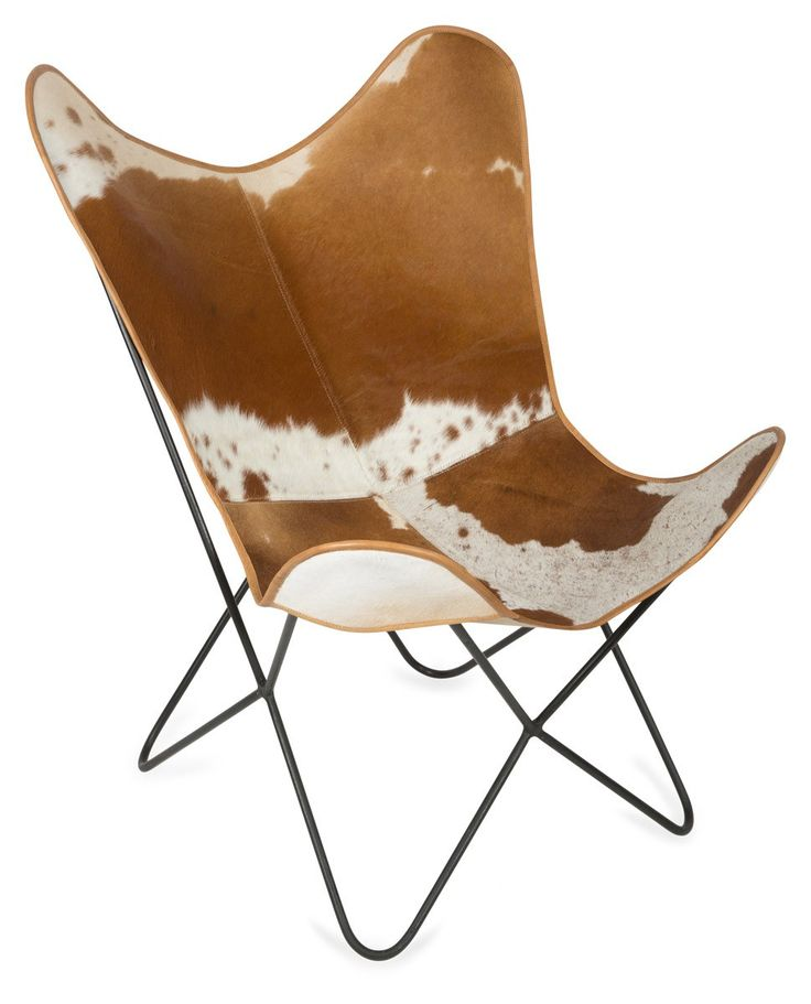 Cow Hide Wing Chair