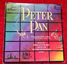 Walt Disney's PETER PAN Soundtrack Songs You Can Fly 1963 movie vinyl record