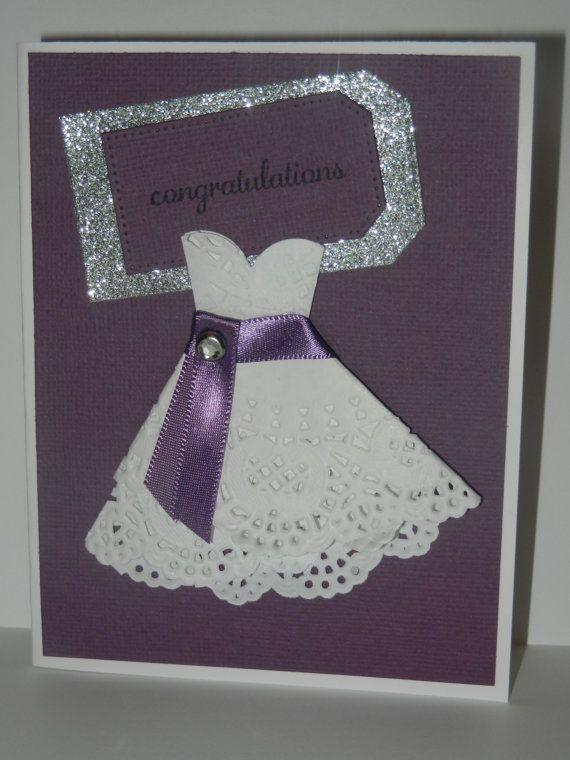 Paper Doily Dress Bridal Shower Card By FriendsCallMeMartha