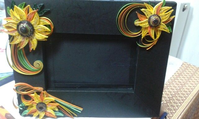 Sun flower by quilling catalina