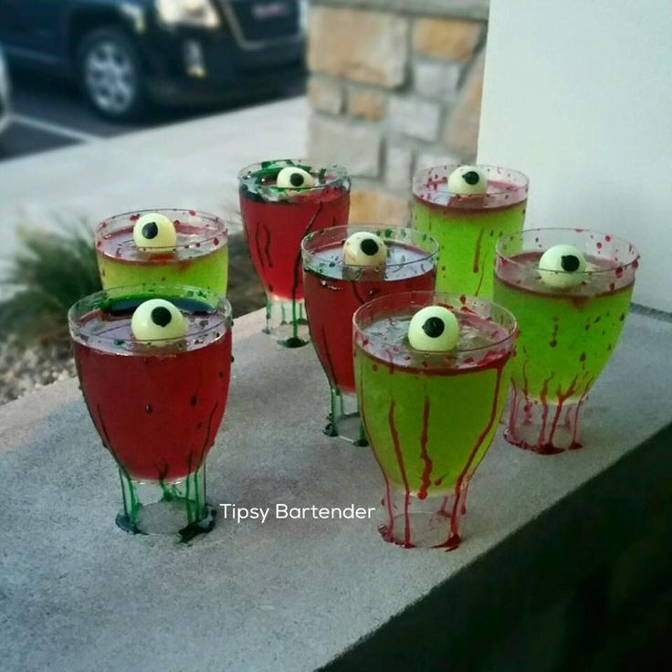 check out the zombie infected jello shots perfect for your halloween party for the - Best Halloween Jello Shots