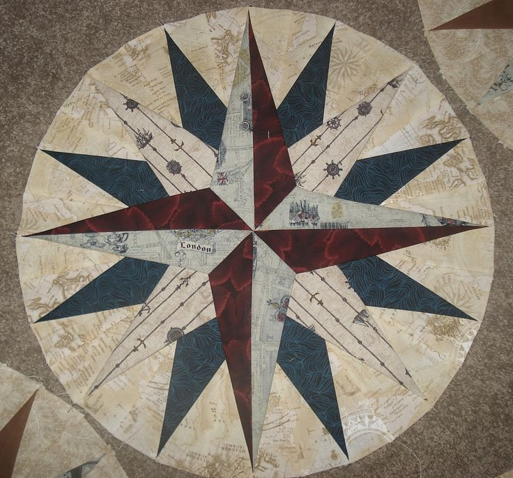 Quilting Patterns Mariner S Compass : 17 Best images about Mariner s compass on Pinterest Bristol, Mariners compass and Phoenix suns