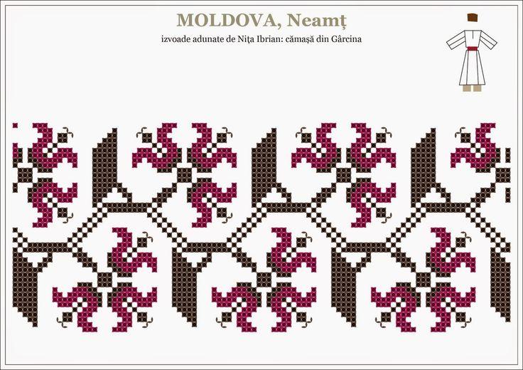 Semne Cusute: Romanian traditional motifs - MOLDOVA, Neamt - Garcina