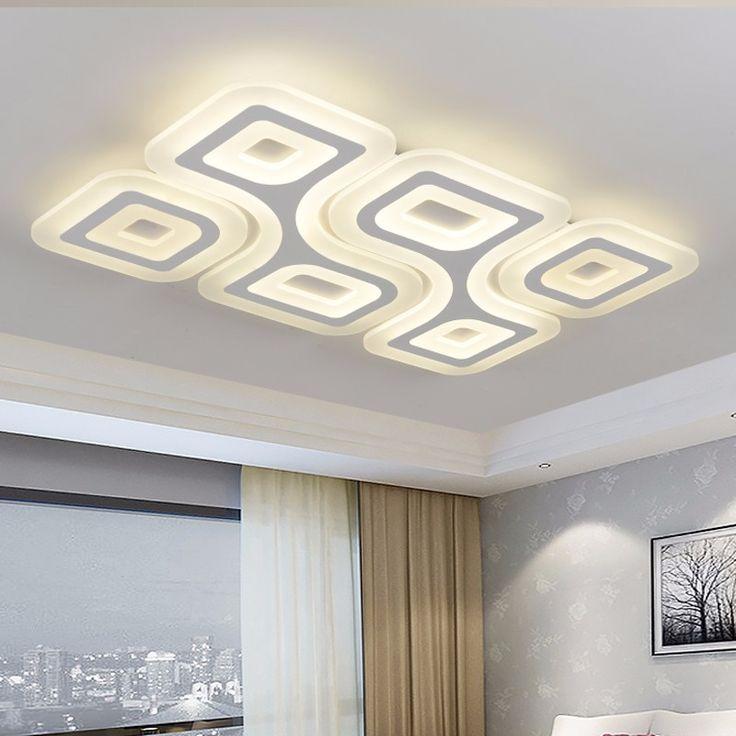 LED Super-thin Ceiling Lamps 4/6Heads Modern Living room Ceiling Light Rectangular Bedroom Luminaire Restaurant Lighting MD85082