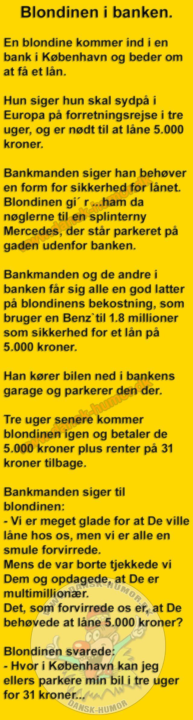 Blondinen i banken.