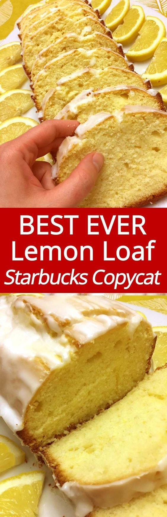 I love Starbucks lemon loaf, and this copycat version is amazing! This lemon pound cake is the best ever!