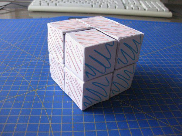 Cubo rubik magnético, casero para proyecto de educación