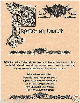 PROTECT AN OBJECT Book of Shadows Page BOS Pages Real Witchcraft Spell