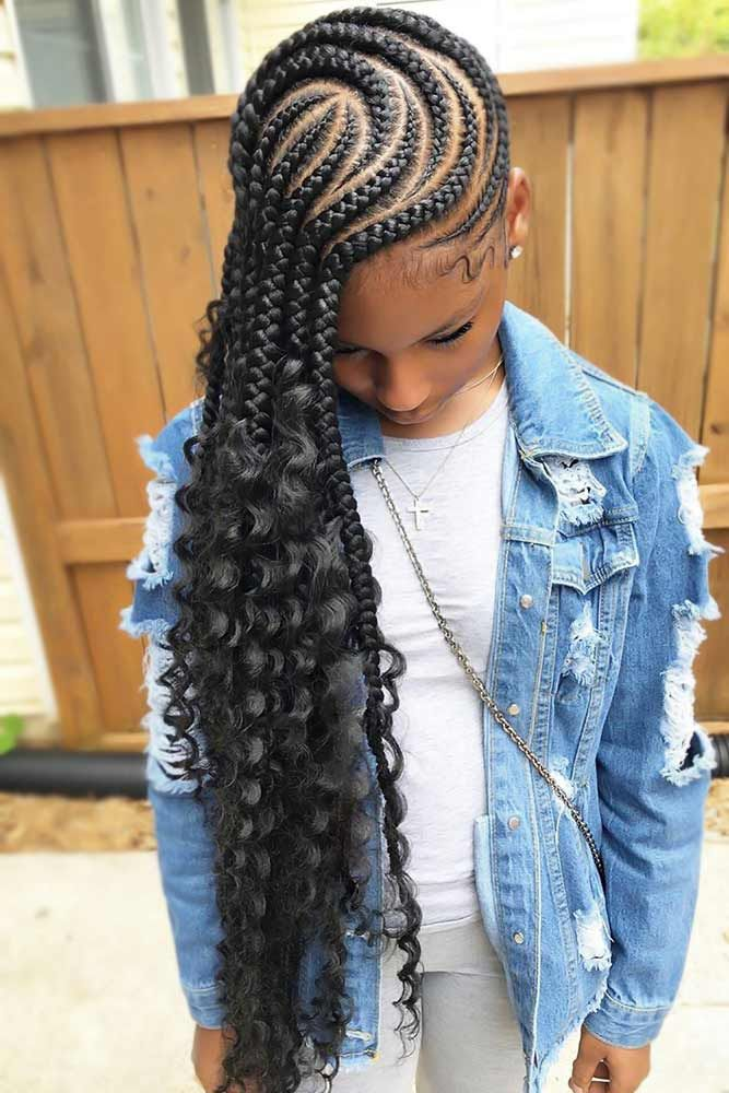 50 Cute Cornrow Braids Ideas To Tame Your Naughty Hair Hair Styles Braided Hairstyles Kids Braided Hairstyles