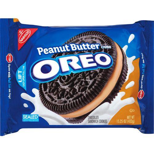 Nabisco Oreo Chocolate Peanut Butter Creme Sandwich Cookies