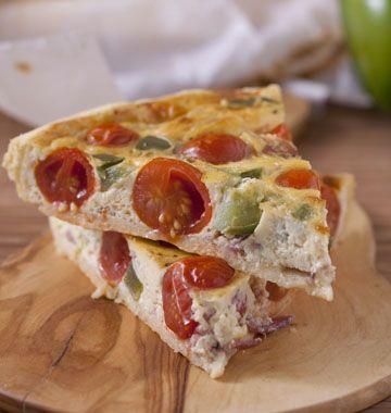 Photo de la recette : Tarte aux tomates cerises et bacon