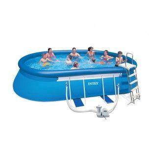 Kit piscine autoportante INTEX Ellipse 6.10 x 3.66 x 1.22 M