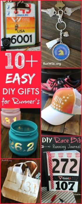 Easy DIY Christmas Gifts for Runners. So many great ideas for the runner in your life. I know so many people who are training for their first half marathon, 5k and 10K. Love these affordable craft ideas.