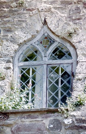 Cool Gothic Window in English Country Manor-Photo by Audrey Bell