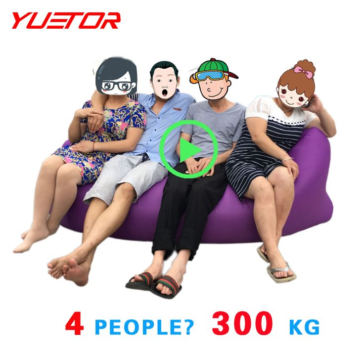 Yuetor 52 Beach lay bag Hangout sleep Air Bed Lounger laybag Outdoor fast inflatable folding sleeping lazy bag * Prodolzhit' k produktu po ssylke izobrazheniya.