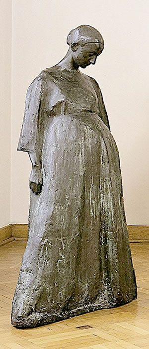 xawery dunikowski, brzemienna (z cyklu: kobiety brzemienne), 1906