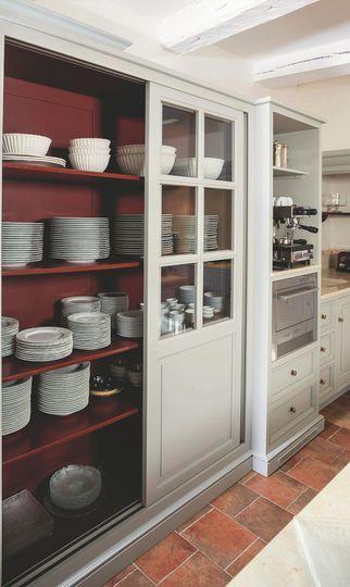 La cuisine façon store vénitien - Cuisine contemporaine : 25 modèles craquants - CôtéMaison.fr