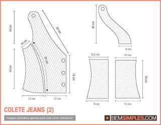 Aprenda a fazer um colete de tecido ou jeans(pode ser calça reciclada) | Agulha de ouro Ateliê