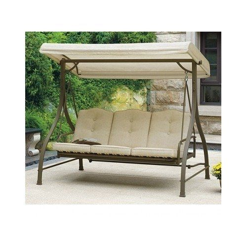 Porch swing with canopy = relaxing shade for front deck http://www.majestypatiofurniture.com/outdoor-patio-swing-w-canopy-adjusts-to-hammock-position-update-the-patio-furniture-this-over-sized-porch-swing-seats-3-comfortably-while-sitting-in-the-shade-with-the-overhang-awning-this-outd