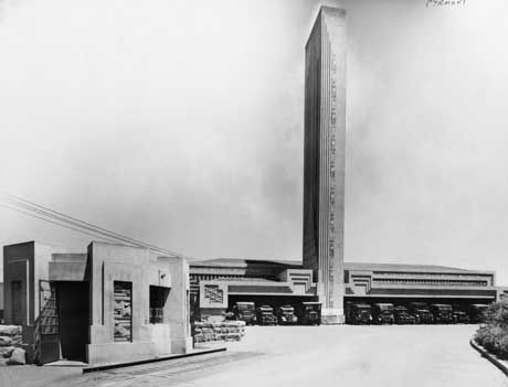 The Art deco lines of the Pyrmont Incinerator. Of the seven Griffin and Nicholls incinerators that were built in Sydney, only Willoughby and Glebe incinerators survive.
