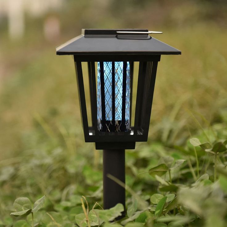 Costway Mosquito Insect Zapper Accent Kill bugs killer with Solar LED Garden Light Lamp, Black