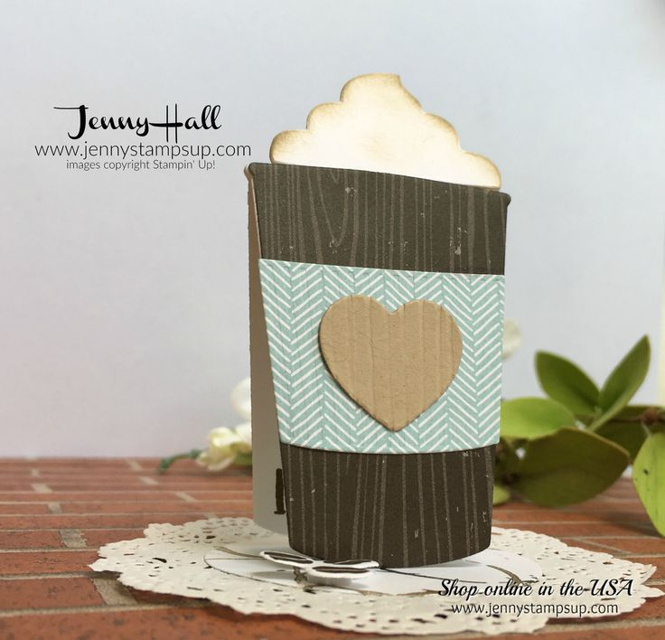 Fun Easel Card from an AddInktive Design tutorial. No cardmaking hacks needed for this easy to follow tutorial by Bronwyn Eastley. Coffee Cafe' theme or something new and fresh, your creativity makes it happen! Card created by Jenny Hall from Stampin' Up! products.