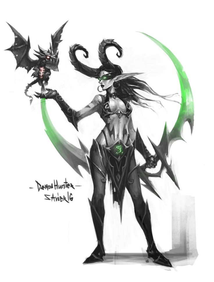 265 best images about elfe de la nuit on pinterest for Demon hunter