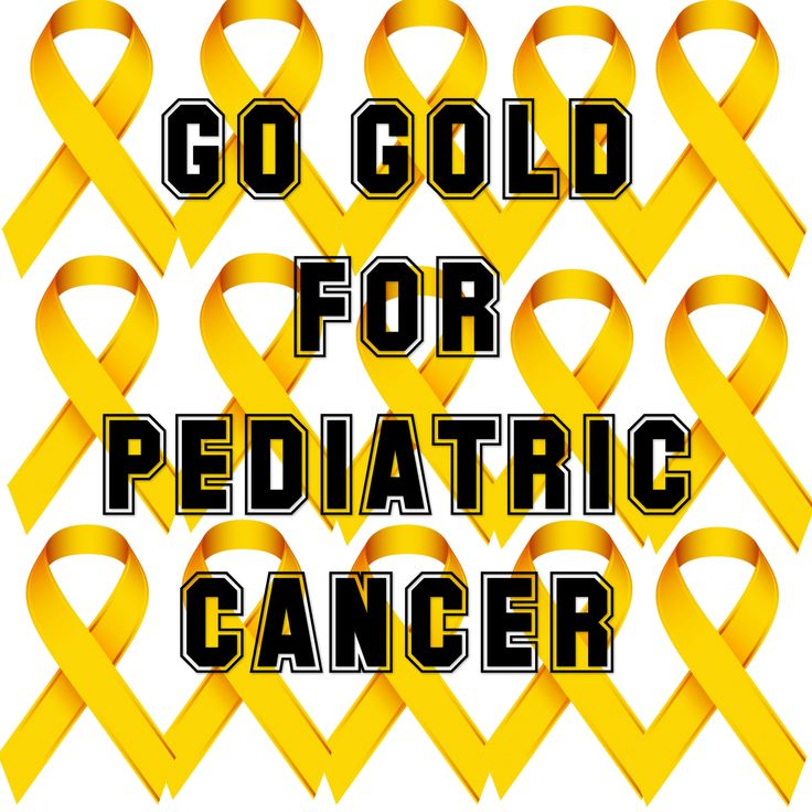 The Gold Ribbon is a symbol for pediatric cancer so #GoGold