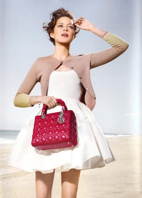 #Marion Cotillard for Lady Dior Spring 2013 campaign grey dress #2dayslook #greyfashion www.2dayslook.com
