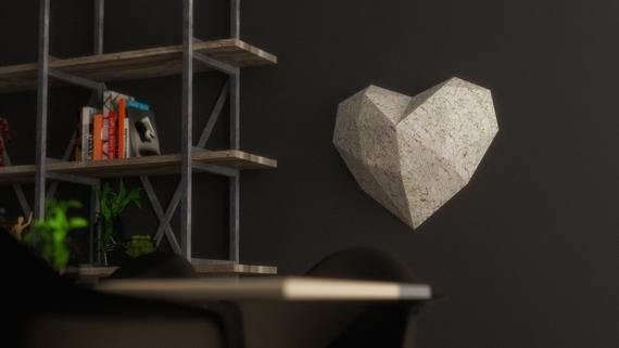 Papercraft Heart Model 3d Origami Download Pdf Template Diy Decoration In 2020 Diy Decor Paper Crafts 3d Origami