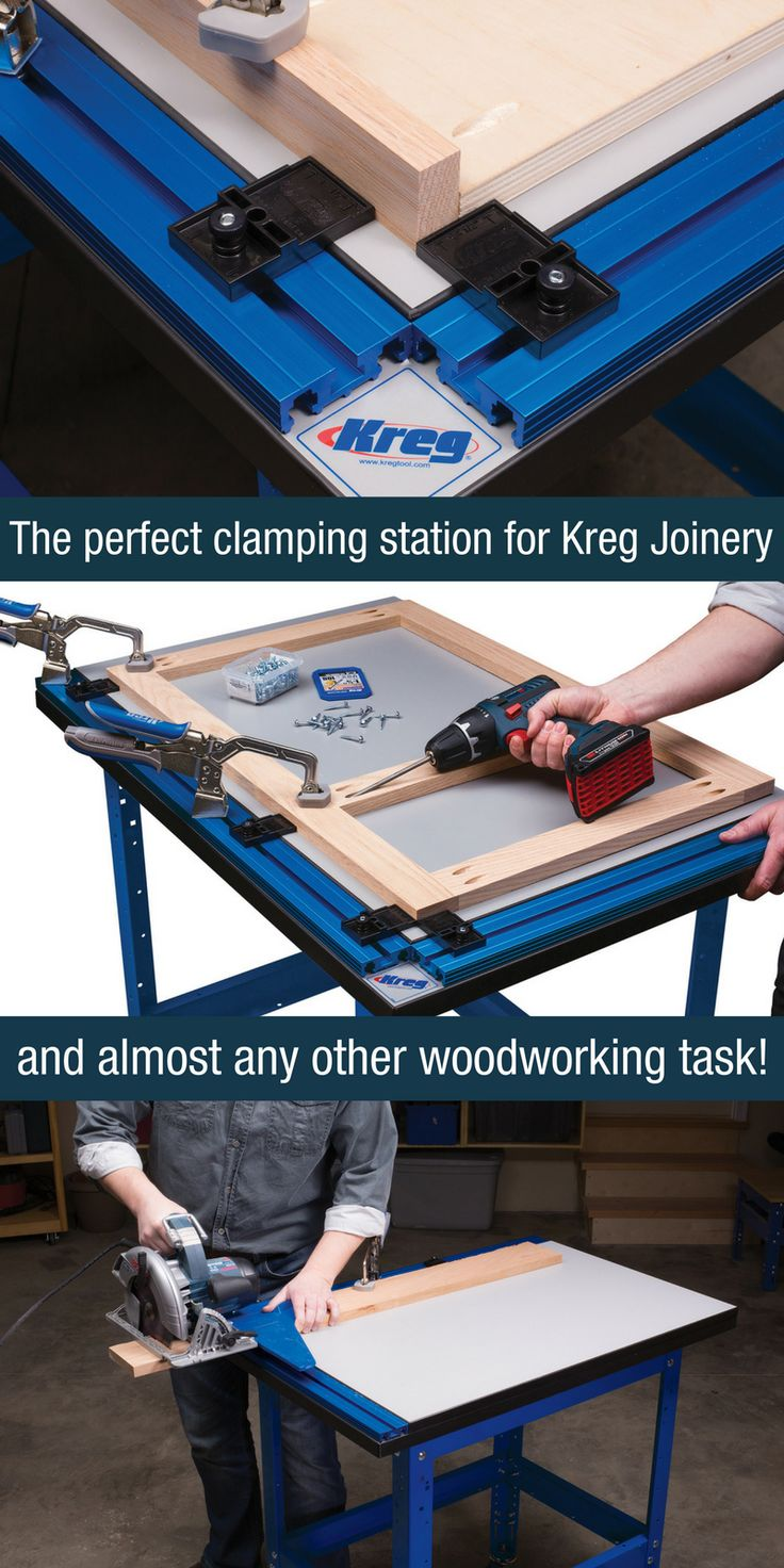 Create the ultimate clamping solution for Kreg Joinery and almost any other woodworking task. Whether you're joining, sawing, sanding, or routing, owning a table that was designed and built with clamping as it primary focus makes all the difference in the world.