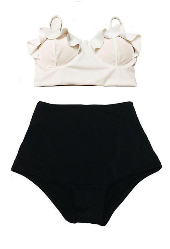 Available in Large Sizes TQSKK New Bikinis Women Swimsuit High Waist Bathing Suit Plus Size Swimwear Push Up Bikini Set Vintage Retro Beach Wear XXL