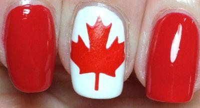 Canada day nails design - nails