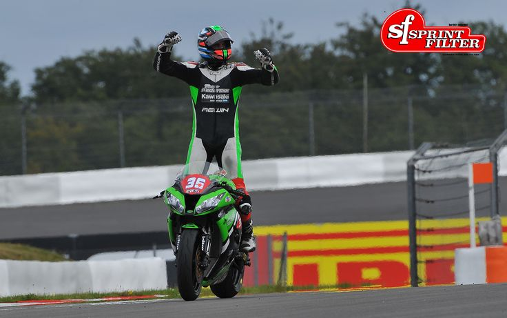Leandro Mercado wins at Nurburgring Circuit in the FIM STK 1000 with his Kawasaki ZX-10R. Sprint Filter P08 air filter equipped