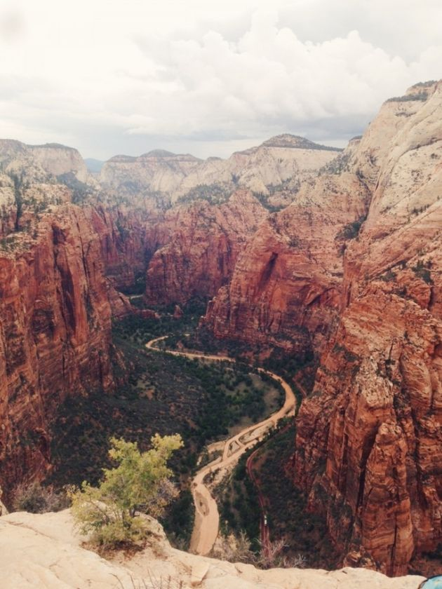 hike angel's landing at zion national park in utah