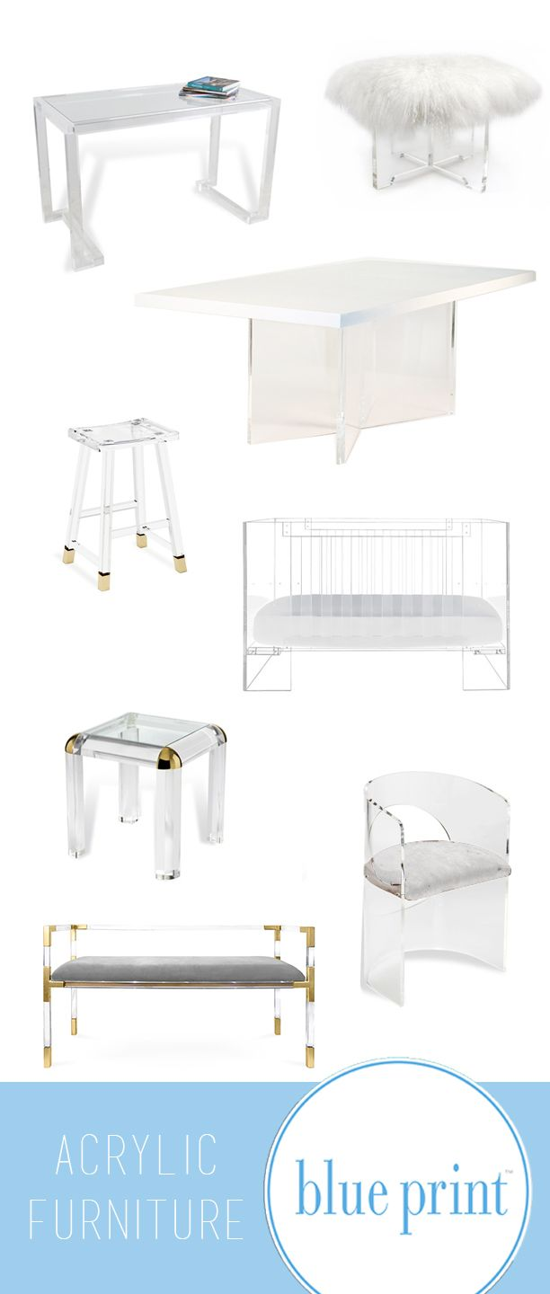 77 best furniture images on pinterest brass hardware lamps and decorate with acrylic furniture acrylic furniture available at blue print store lucite crib malvernweather Image collections