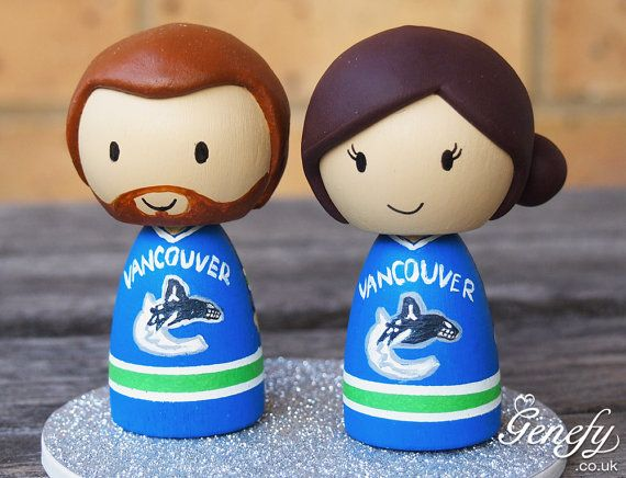 wedding cake toppers vancouver nhl vancouver canucks wedding cake topper and 26620