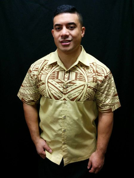 Men 39 s shirts tatau style pacific style for Mens lilac dress shirt