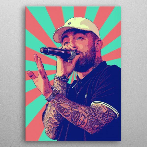 'Mac Miller Retro 2' Poster Print by DK Artwork | Displate in 2020 | Poster prints, Pop art ...