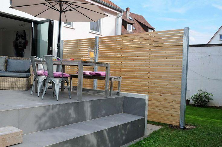 1000 ideen zu sichtschutz l rche auf pinterest. Black Bedroom Furniture Sets. Home Design Ideas