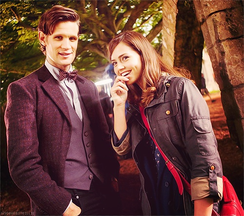Matt Smith and Jenna Louise Coleman. Doctor Who series 7.