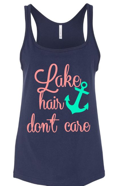 Lake Hair Don't Care Relaxed Loose Fit Tank