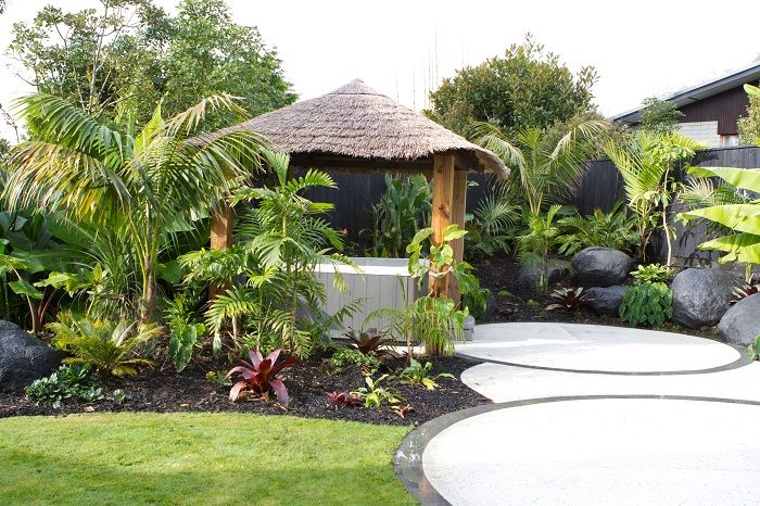 Tropical Delight On The Shore Peter Fry Landscapedesign Co Nz