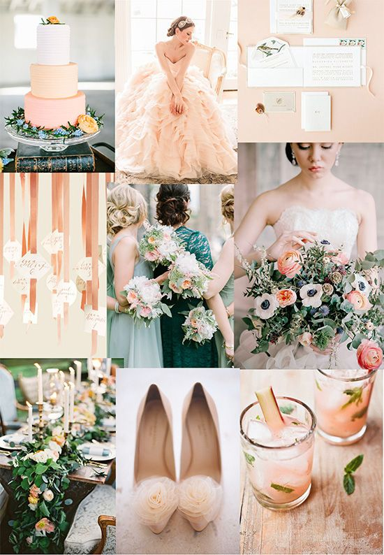 Peach & forest green party inspiration with ideas for your wedding