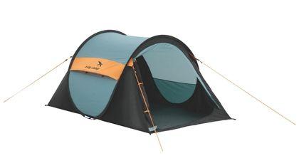 Ideaal voor de festival ganger: de Pop Up tent! Deze is van Easy Camp en biedt plaats aan 2 personen. je hoeft hem alleen maar weg te gooien en de haringen vast te maken. http://www.kampeerwereld.nl/easy-camp-funster-black-blue/