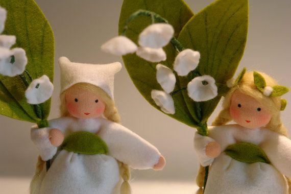 Lily of the valley  Flower Child  Waldorf by KatjasFlowerfairys, €35.00