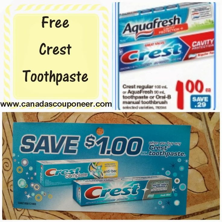 Hurry and get yourself some free toothpaste while the sale is going on (March 7th - 13th) Visit my blog to find out where and how!