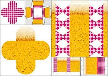 Fiesta de la Cerveza para Chicas: Cajas para Imprimir Gratis.