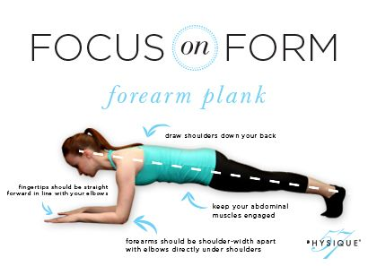 Forearm Plank position is one of the best positions to rev up your heart rate and tone your whole body! In a forearm plank pose, you are actively using your core, chest, back, shoulders, seat and thighs to stabilize the position. Try holding this pose for 30 seconds to a minute! You'll feel how hard … Continue reading Focus on Form: Forearm Plank